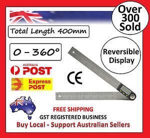 400mm 2 in1 Digital Angle Finder Meter Protractor Goniometer Ruler 360° Measurer