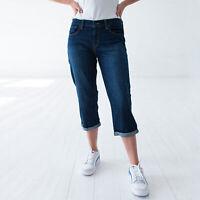 Levi's Mittel Blau Denim Damen Capri Shorts DE 38 / W30