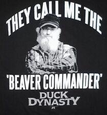 NWT Mens DUCK DYNASTY Black Shirt T-Shirt size XL ''Beaver Commander''