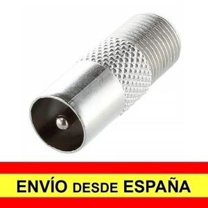 Adaptador Conector Macho Coaxial Antena a Hembra Coaxial Tipo F CCTV, TV.. a4148