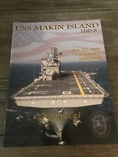 Lot of (2) Us Navy Uss Makin Island Lhd-8 Commissioning Programs Free Shipping