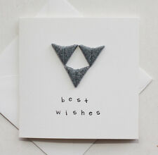 """Handmade 'Best Wishes' Card - Siamese Oriental Cats - 4x4"""" Card With Envelope"""