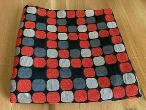 Maharam Herman Miller upholstery fabric by Eames Red/Silver/Gray on Black