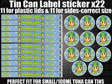 PINEAPPLE EXPRESS Cali Tin Labels Stickers Marijuana weed RX Medical Cannabis