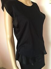 J.CREW top tank  blouse cotton polyester black M  EUC