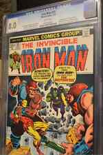 {Iron Man 55 Cgc 8.0} First Appearance of Thanos! Avengers Movie!