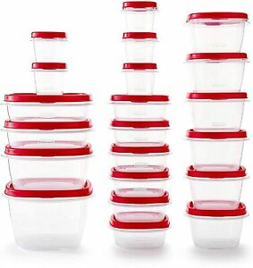 Rubbermaid - 2063704 Rubbermaid Easy Find Vented Lids Food Storage Containers, S