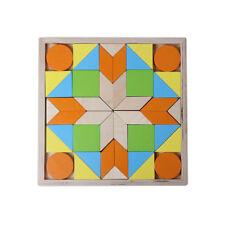 Holz großes Legespiel Puzzle Plattenmosaik 44 Teile geo Formen 3D Effekt in Box