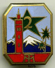 Insigne tirailleurs marocains , 2 RTM. ( OFSI. )