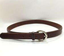 Women's Eddie Bauer Brown Leather Skinny Belt Size Large