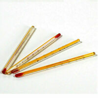 1/3/5/10Pcs Yellow 0-50℃ Glass Thermometer Laboratory Chemistry Glassware