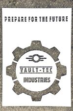 Fallout. VAULT-TEC industries. Stencil thick paper 250g/m2 A4 size .
