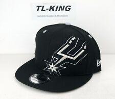 New Era NBA San Antonio Spurs Black White 9FIFTY Snapback Adjustable Hat N