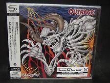 OUTRAGE Raging Out JAPAN SHM CD + DVD Crocodile Bambi Cerberus Japan Thrash !