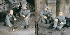 """Verlinden 1/48 """"Chow Time"""" German Waffen-SS Tankers Eating WWII (4 Figures) 2269"""