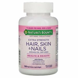 Nature's Bounty, Extra Strength Hair, Skin & Nails, 150 Rapid Liquid Softgels