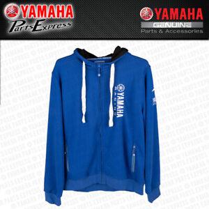 NEW YAMAHA PADDOCK BLUE ESSENTIALS ZIP HOODIE SWEATSHIRT YZ YZF 125 250 450 R6