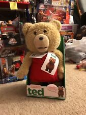 """TED with RED APRON 15"""" Talking Plush w MOVING MOUTH Rated R Movie Teddy Bear NIB"""