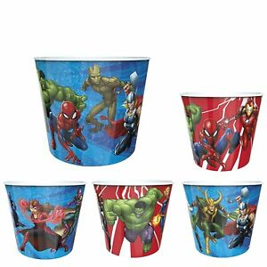 Zak Designs Avengers Family Popcorn Bucket Set Serving Container Individual Cups