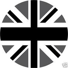 4 x sticker auto moto velo valise pc portable Rond Union Jack black 67mm