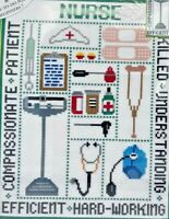 2002 NIP Candamar Designs Counted Cross Stitch Embroidery Kit Nurse Picture 8426