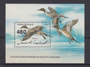 D. Yemen Bloque 2 Pájaro - Aves (MNH)