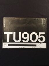 Harman Kardon TU905 Tuner Original Owners Manual Large Pages, Collectors Item