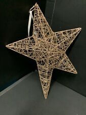 Pottery Barn Kids Oversize Glitter STAR ORNAMENT Christmas TREE Holiday Gift NEW