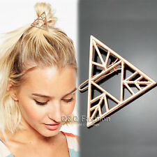 Blogger Rose Gold Triangle Arrow French Updo Hair Pin Clip Dress Snap Barrette