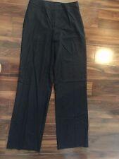ladies ST. JOHN WOOL PANTS career work PLEATED black HIGH WAIST wide leg size 6