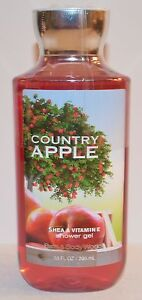 Neuf Bath & Body Works Pais Apple Gel Douche Lavage Beurre Karité Vitamin E