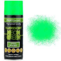 18 x 400ml All Purpose Neon Green Aerosol Spray Paint Household Car Plastic