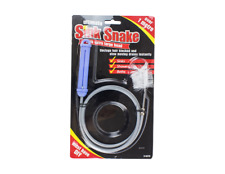 DRAIN BLOCKAGE CLEARER + BRUSH BATH-SINK-TOILET BLOCK UNCLOG FLEXIBLE PIPE SNAKE