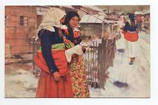 RUSSIE Russia Théme Types russes costumes Douba Femme rue neige