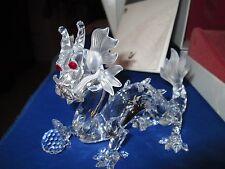 "Swarovski Crystal Dragon Figurine ""Fabulous ""Creatures"" Annual Edition MIB W/COA"