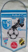 Wimpel 1.FC Magdeburg IFC Cup 1984 Nürnberg Sverige DDR vimpel FCM AIK Stockholm