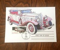 US STAMPS 1923 PACKARD CLASSIC CAR FIRST DAY ISSUE MAXIMUM CARD 1988 Dr Jim