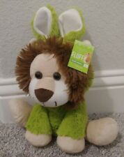Kellytoy NEW WITH TAGS Lion Wearing Green Easter Bunny Rabbit Costume Plush 9""