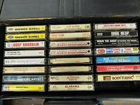 Lot Of 23 Classic Vintage Country and misc Cassette Tapes and Vintage Case