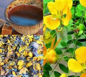 Ranawara Dry Flowers Natural Ayurveda Herbal Drink Ceylon Tea Cassia Auriculata