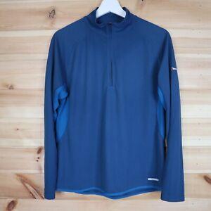Berghaus Argentium T Shirt Half Zip Long Sleeve Blue Size Medium