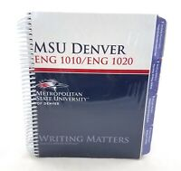 MSU Denver ENG 1010 1020 Writing Matters Textbook Rebecca Moore Howard NEW