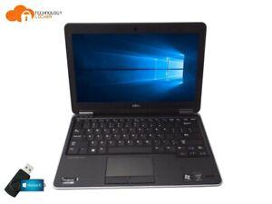 "Dell Latitude E7240 12.5"" Laptop Intel i7-4600U 2.10GHz 4GB RAM 128GB SSD Win 10"