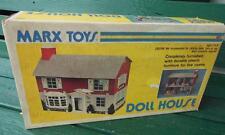 MARX ORIGNAL MODERN COLONIAL DOLLHOUSE FURNISHED W/ ORIGINAL BOX MANUAL NO. 4031