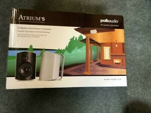 Polk Audio Atrium 5 Outdoor Speakers Sold as a Pair Black or White Free Shipping