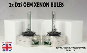 *2x D3S Xenon Bulbs Audi A3 A4 A5 Q7 Bi Genuine Oem White Gas Discharge S3 Rs3
