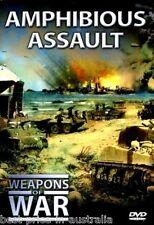 WEAPONS OF WAR - Amphibious Assault DVD + BOOK WORLD WAR TWO WWII BRAND NEW R0