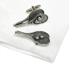 Quality Cufflinks Handmade in England Silver Pewter Tennis Racket High