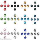 5 Pendentifs Breloque Pierre de Naissance Pr Bracelet Collier 2.25x1.8cm Choix