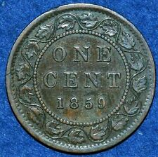 Large cent 1859 - Good Grade - Canada Queen Victoria KM#1